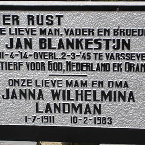 BLANKESTIJN, J.
